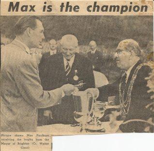 1964 Max Faulkner PGA (Southern) Champion   Private collection John Knight