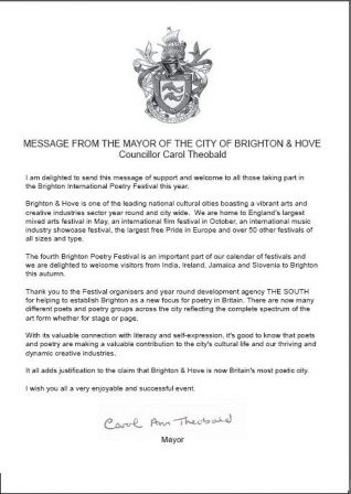 The mayor's message of support | Click the image to see it full size