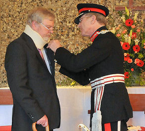 Robert Brown: MBE for charity work