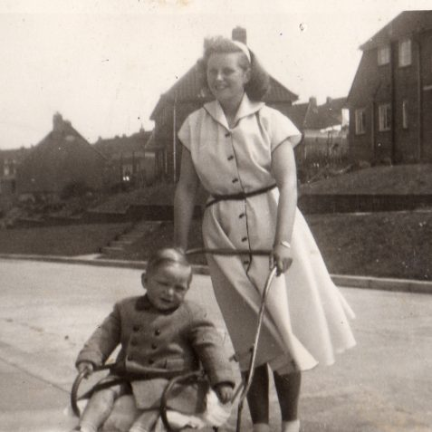 Me and my sister val 1952/3 | From the private collection of Stephen Raynsford