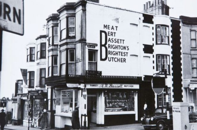 Bert Bassett's meat shop | Image reproduced with kind permission of The Regency Society and The James Gray Collection