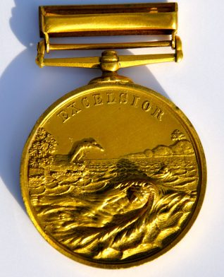 Medal presented to Louie Webb | From the private collection of Colin Webb