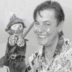 Mike Stone with Mr Punch | From the private collection of Mike Stone