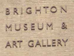 Photograph of the sign of  Brighton Museum and Art Gallery sign | Photo taken by Zoë Woods, May 2004.
