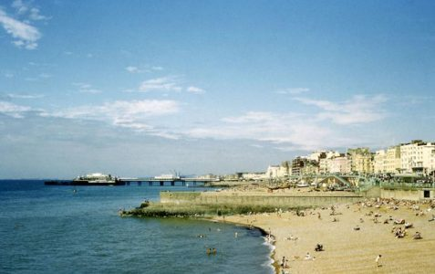 A view from the beach in the early 1970s