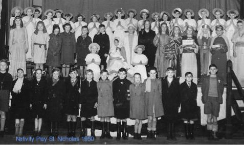 St. Nicholas School Nativity Play, 1950ish   From the private collection of Bonny Cother