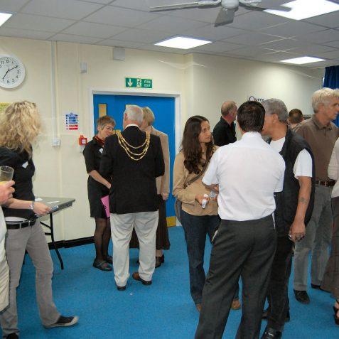 The Mayor talks to Ninka Willcock a My Brighton and Hove volunteer | Photo by Tony Mould