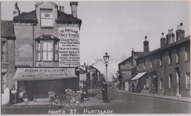 North Street: Station Road end | Reproduced from a F Frith & Co postcard