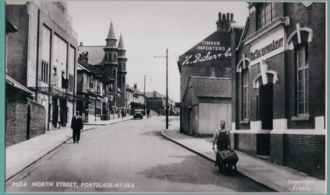 North Street: Church Road end | Reproduced from a F Frith & Co postcard