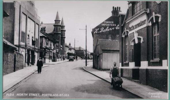 North Street, Portslade | Reproduced from a F Frith & Co postcard