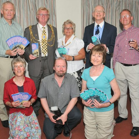 Some of the NLCA team who produced the history trail, with the Mayor and Mayoress | Photo by Tony Mould