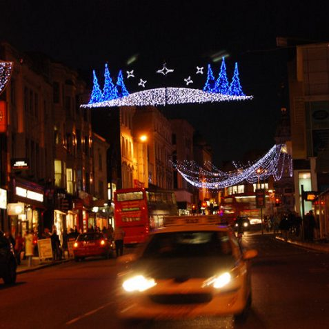 Festive lights in North Street | Photo by Tony Mould