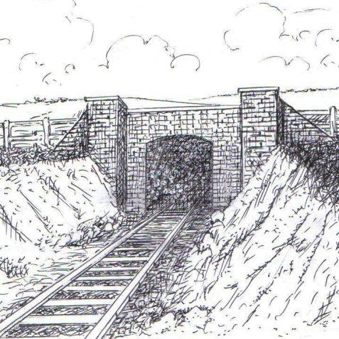 Towards The Dyke, Northease Drive Bridge c.1890 | Tim Groves