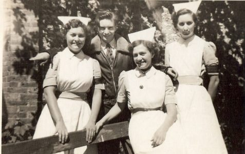 Nurses photographed in 1952
