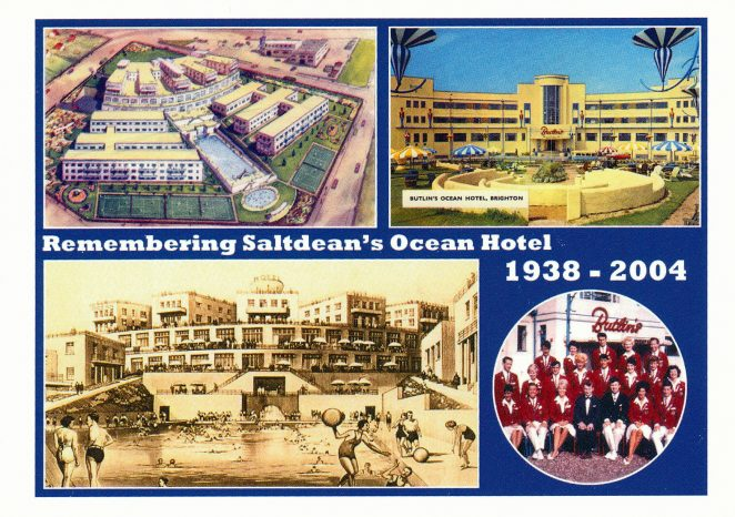 Commemorative postcard of Ocean Hotel - click on the image to open a large version in a new page | Reproduced with permission from Douglas d'Enno and Colette Langton