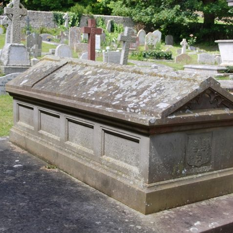 The Kemp family tomb in St. Wulfran's graveyard | Photo by Tony Mould
