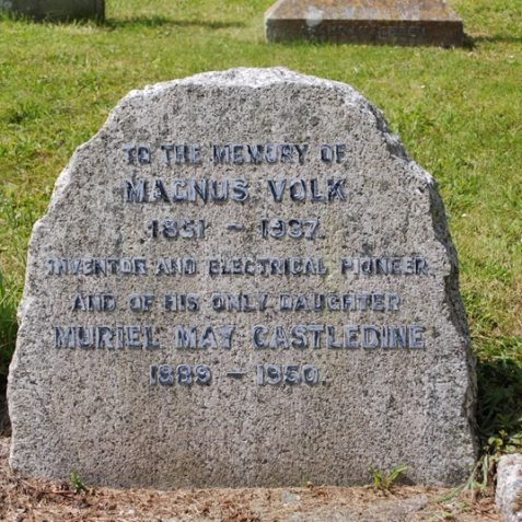 The grave of Magnus Volk   Photo by Tony Mould