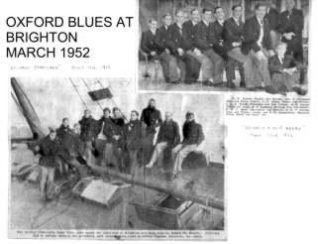 Oxford Blues and the beached 'Rustler' at Brighton | Photo supplied by Arthur Loosley, Brighton and Hove Herald