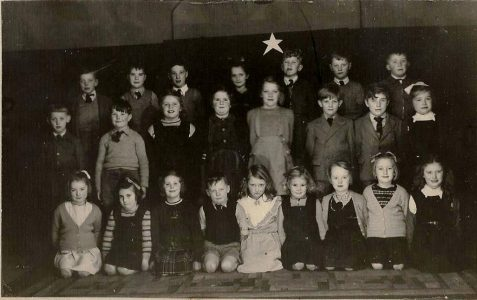 School nativity play choir 1950