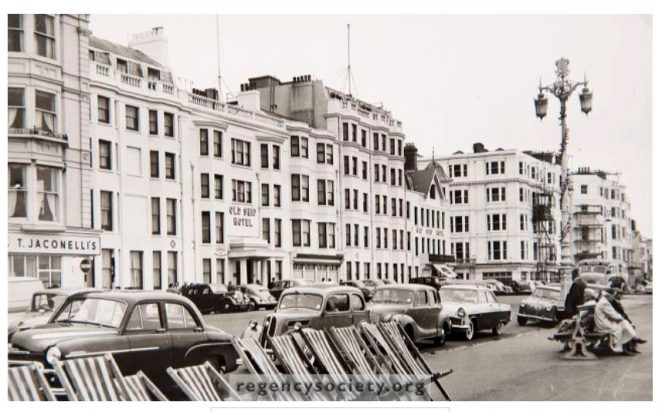The Old Ship Hotel photographed in 1957 | Image reproduced with kind permission of The Regency Society and The James Gray Collection