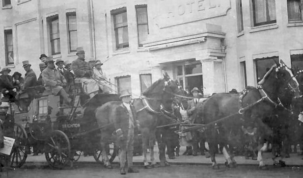 Coach outside the Old Ship Hotel c1920 | From a private collection