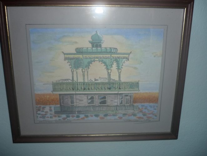 Brighton Bandstand c1990 | Original artwork: Ken Why