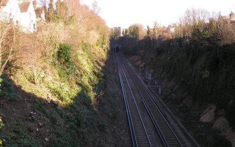 Highdown Road railway cutting