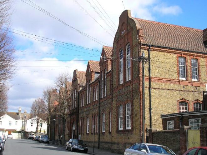 Connaught Road School, looking northeast | Photo by Peter Groves