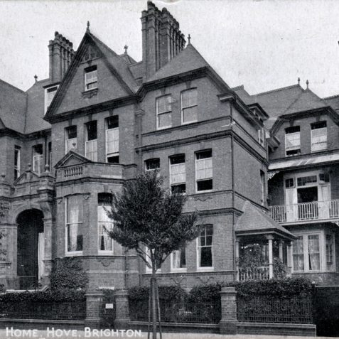 A view of the house c.1920 after trees were planted along Portland Road. | From the private collection of Tony Drury