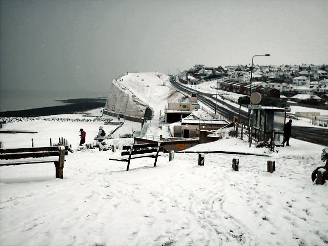 Saltdean in the snow | Photo by Christopher Wrapson