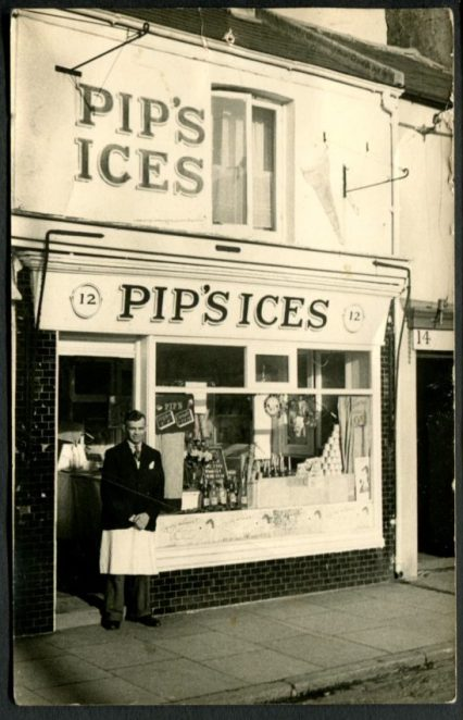 Pip's Ices: Oxford Street | From the private collection of Jennifer Drury