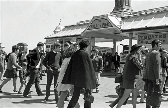 The Palace Pier in the 1960s | Photo by John Leach