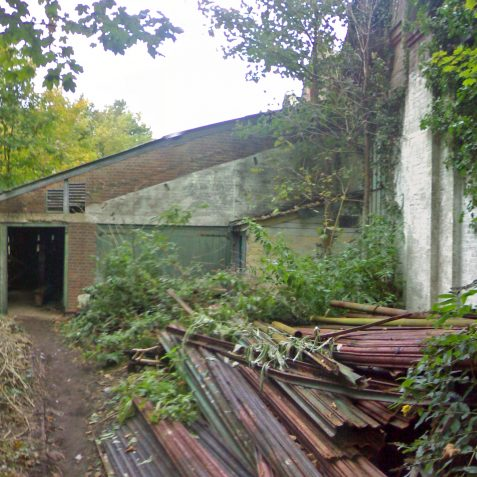 This view shows the exterior of the Wood Store   Photo by Ghost Trains