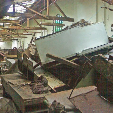 The Machine Shop in October 2008, immediatly prior to demolition   Photo by Ghost Trains