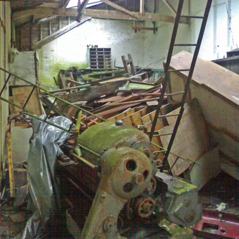 Another view of the Machine Shop. Note the Colchester lathe in the foreground: there were still a quantity of machine tools in situ at this time including pillar drills, grinders, lathes and planing machines. Most were clearly visiblebut will invariably be scrapped when the site is cleared.   Photo by Ghost Trains