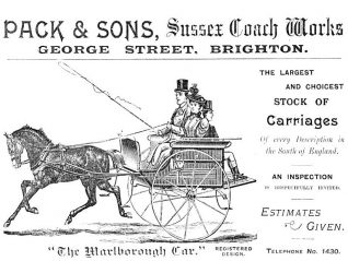 Pack & Sons advertisement: click on image to open a large version in a new window | From the private collection of Andy Grant