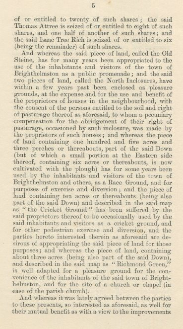 Extract of the Deeds | Page 5 from the book Tenantry Lands owned by Peter Groves