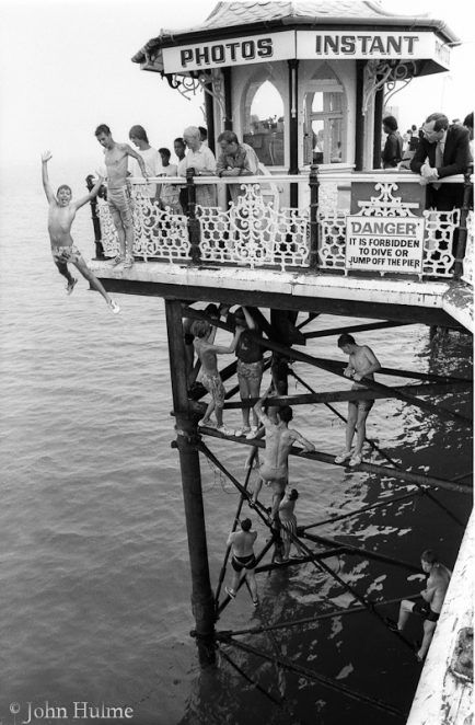 Diving off Palace Pier 1988 | Photo by John Hulme