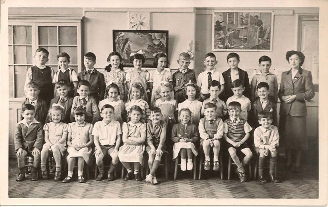 July 1951. A class of 30 6/7 year olds | From the private collection of Pat Salmon