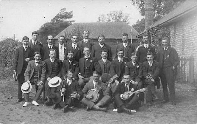 A mystery group - could they be singers? | From the private collection of Carol Trotman Nee Breeds
