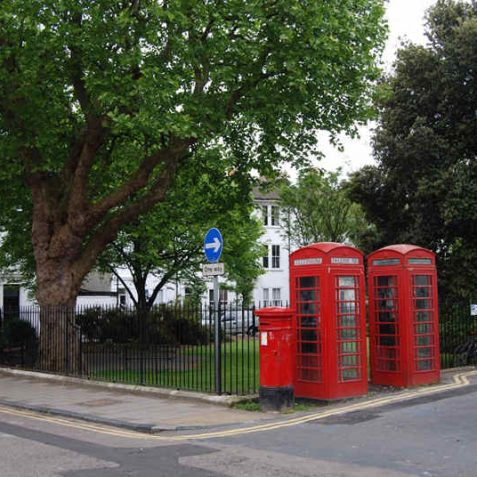 Pelham Square K6-type telephone boxes: designated as buildings of special architectural interest | Photo by Tony Mould