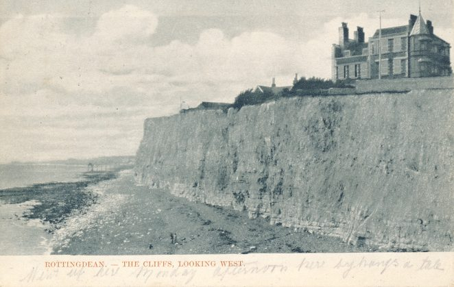 Cliffs and beach at Rottingdean: undated | From the private collection of Douglas d'Enno