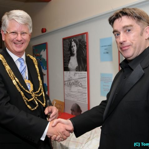 The Mayor Councillor Garry Peltzer Dunn with the director Simon Gray | Photo by Tony Mould