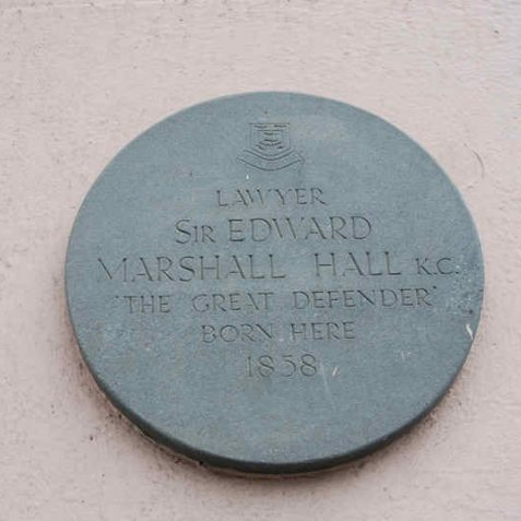Sir Edward Marshall Hall's commemorative plaque | Photo by Tony Mould