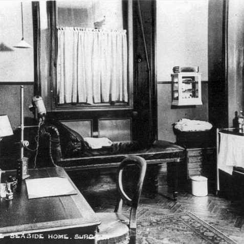 The surgery at 11 Portland Road c. early 1900s | From the private collection of Tony Drury