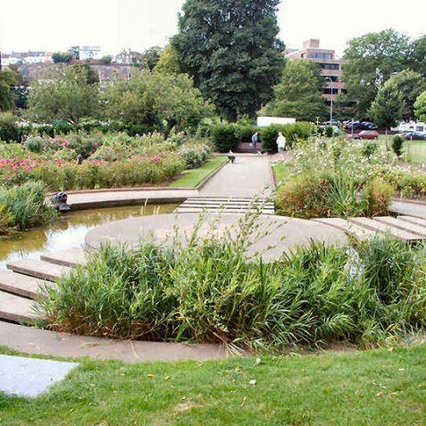 Landscaped pond at Preston Park | Photo by Tony Mould