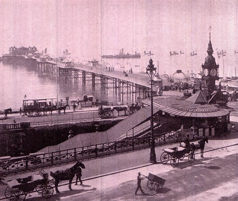 View of Aquarium and Palace Pier | Scanned from an original copy of '67 Views of Brighton, Hove and Neighbourhood', circa 1910, by kind permission of David Burgess