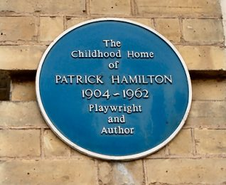Patrick Hamilton Blue Plaque | Photo by Tony Mould