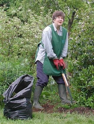 A volunteer gardener at the Royal Pavilion   Photo by John Desborough