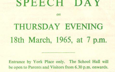 Speech Day 1965